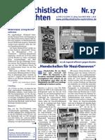 antifaschistische nachrichten 2009 #17