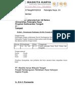 039 Surat an Pembuatan Job Mix Formula Unpar