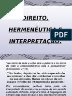 Direito, HermenÊutica e InterpretaÇÃo