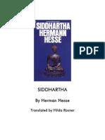 Siddharta - Hermann Hesse