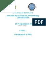 Unidad1-Introducción al PHP