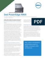 Dell PowerEdge R905 Spec Sheet