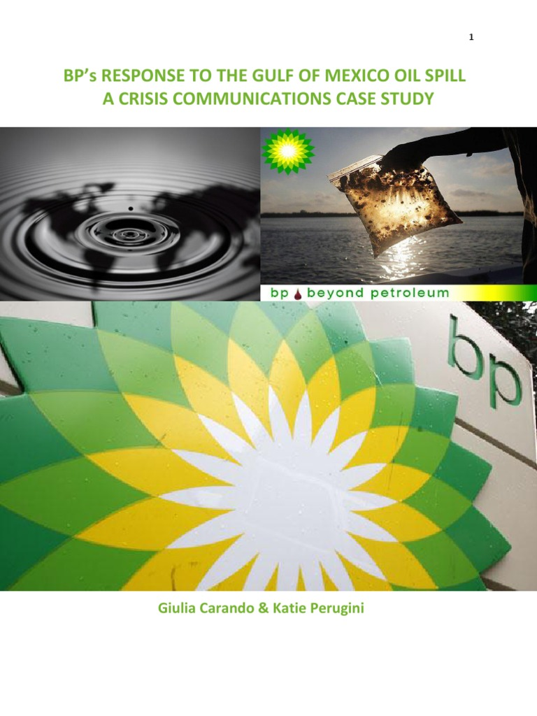 Case Study: BP Oil Spill - Pennsylvania State University