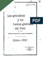 Las grandezas y los hechos gloriosos del Perú. (1921)
