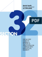 The Step by Step Guide to making Section 32 (MHFPA) applications