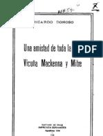 Una amistad de toda la vida. Vicuña Mackenna y Mitre. (1926)