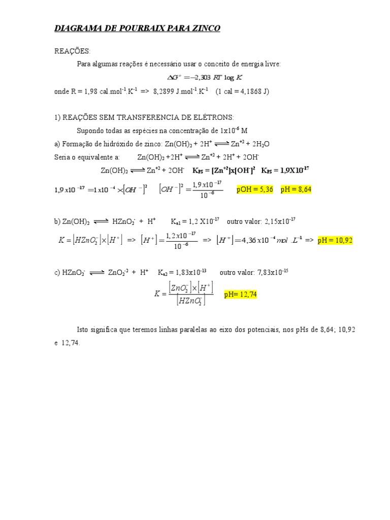 Diagrama de pourbaix para zinco full ccuart Choice Image