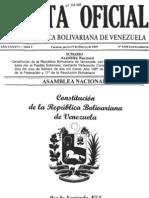 CRBV 1999 (1era. Enmienda 2009) - Gaceta Oficial