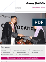 ICA Students E-News Bulletin - September 2010