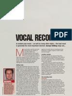 Recording Vocals Feature