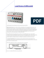 Applications and Forms of Differential Relays
