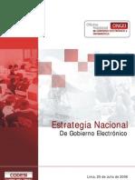Estrategia Nacional Gobierno Electronico