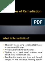 Principles of Remediation