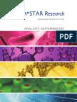 A*STAR Research April 2011-September 2011