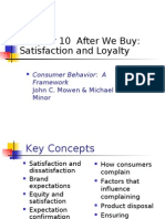 Consumer Satisfaction and Loyalty