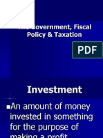 The Government, Fiscal Policy and Taxation