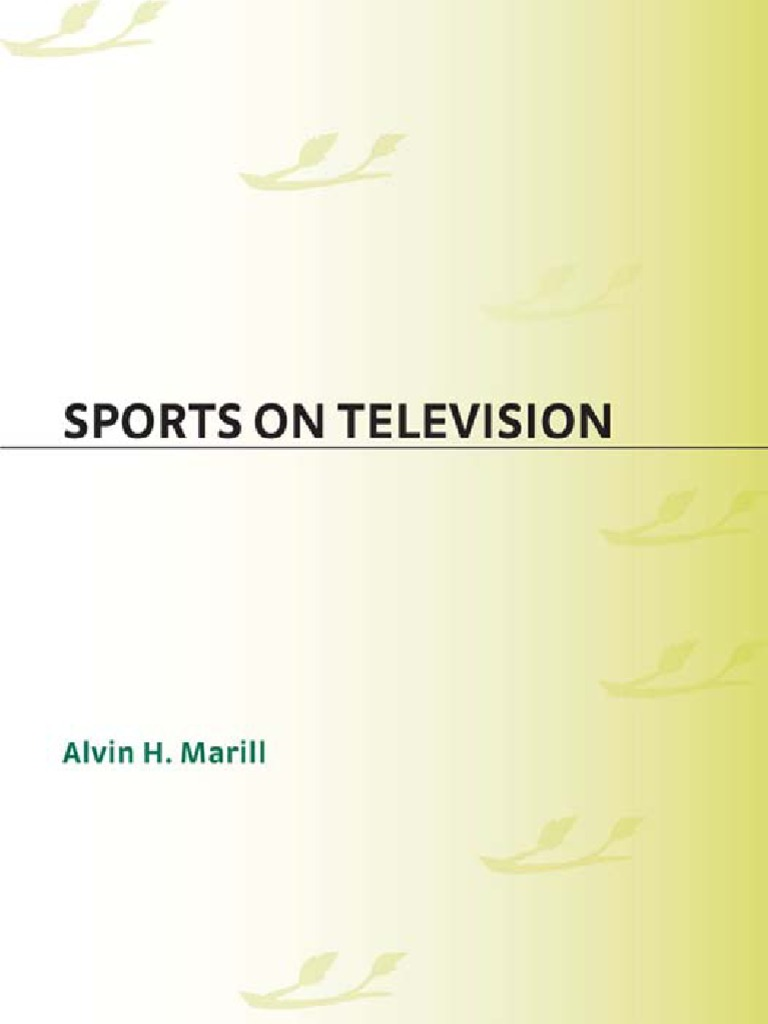 a2dc79956bd Alvin H. MARILL – Sports on Television