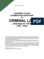 Criminal Law Bar Examination Q