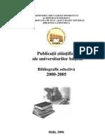 Publicaţii ştiinţifice ale universitarilor bălţeni