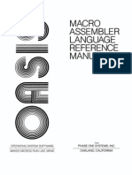 Macro Assembler Reference Manual Mar80