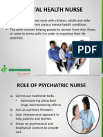 Role Mental Health Nurse