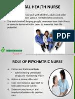 Role Mental Health Nurse