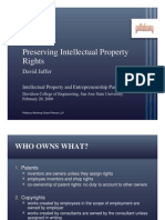 Preserving Intellectual Property Rights