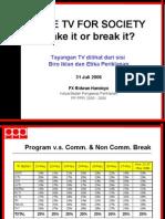 Ridwan Handoyo - Tayangan TV Dari Sisi Biro Iklan Dan Etika Periklanan