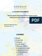 Politica de Dezvoltare Regionala a Uniunii Europene