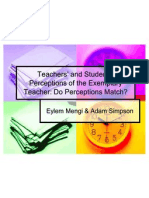 Teachers and Students Perceptions