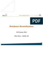 Database Normal is at Ion