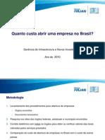Custo Abertura de Empresa No Brasill