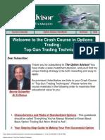 Bernie Schaeffer - Option Advisor - Top Gun Trading Techniques