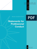 Radiography_College of Radiographers Statements of Professional Conduct_2002