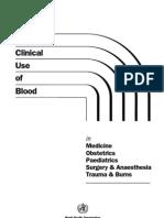 WHO Handbook of Blood Tranfusion