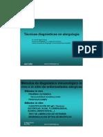 Diapositivas Tecnicas Diagnósticas en Alergología (Texto)