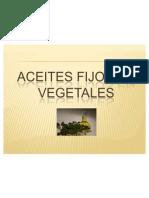Aceites Fijos en Vegetales