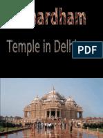Akshardham Temple of Delhi