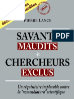 Savants Maudits - Chercheurs Exclus