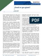 HP – stellar cloud or gas giant?