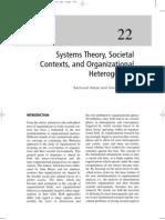 Hasse, Krucken - 2008 - Systems Theory, Societal Context, And Organizational Heterogenety