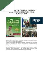 06 Bedah Buku 7 Laws Happiness 100427011240 Phpapp02