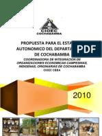Propuesta  Para el Estatuto Autonómico-CIOEC Cbba