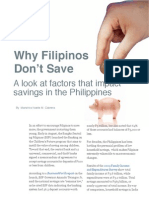 Why Filipinos Don't Save
