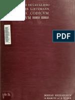 Specimina Codicum Graecorum Vaticanorum-bonnae MCMX