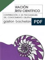 La Formacion Del Espiritu Científico - Bachelard