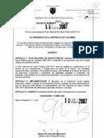 Decreto 3039 (Plan Nacional de salud Pública)