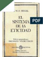 Hegel - El Sistema de La Eticidad (Etica)