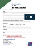 Formulaire d'inscription concours Ensemble Pour la Diversité