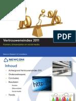 Newcom Vertrouwensindex 2011